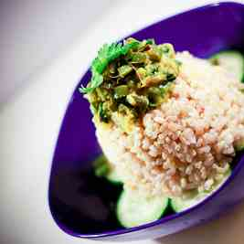 Brown Rice with French Beans and Fenugreek
