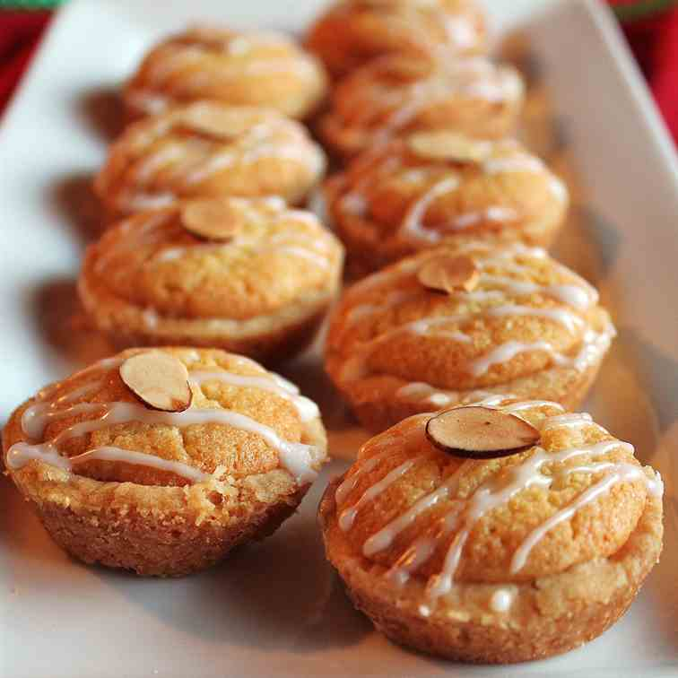Cranberry Bakewell Mini Tarts