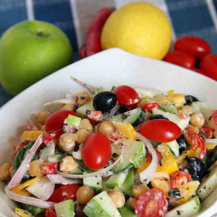 Chickpeas (Garbanzo Beans) Salad