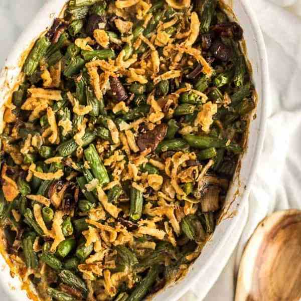 String Bean Casserole with Candied Bacon