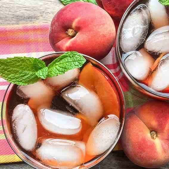 Ginger Peach Iced Tea Recipe