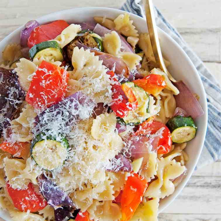 Oven Roasted Vegetable Pasta