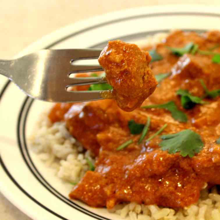 Indian Butter Chicken in the Slow Cooker