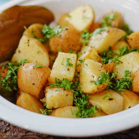 5-Ingredient Indian Style Roast Potatoes