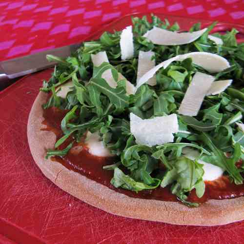 Truffled Gluten Free Pizza with Arugula
