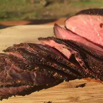 Smoked Tri Tip with Coffee Dry Rub