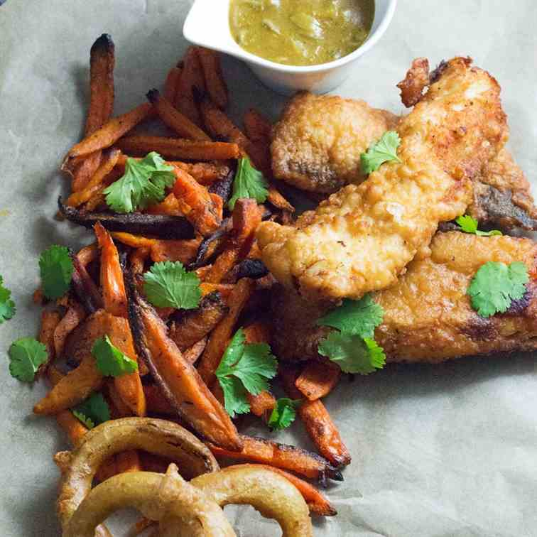 Caribbean Style Fish and Chips
