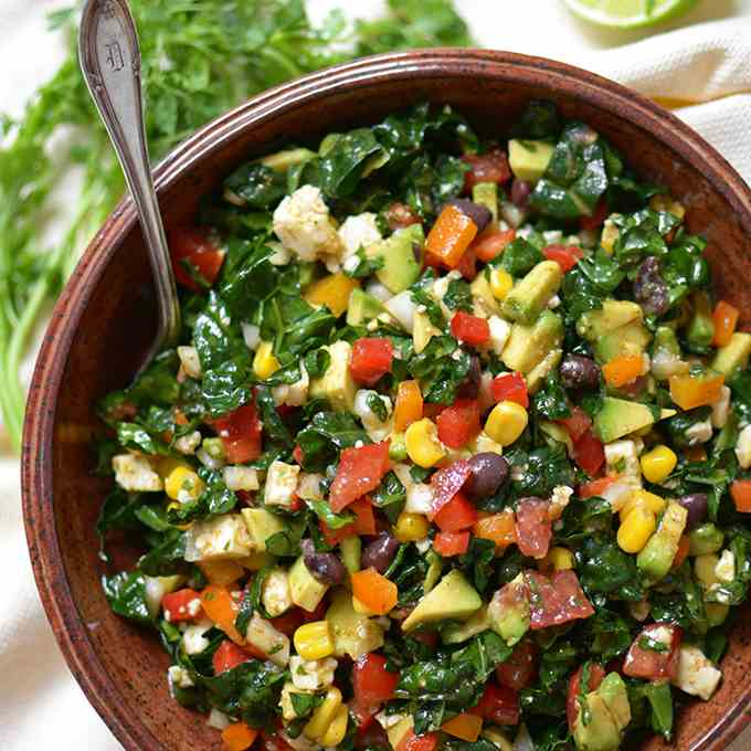 Fiesta Chopped Chipotle Kale Salad