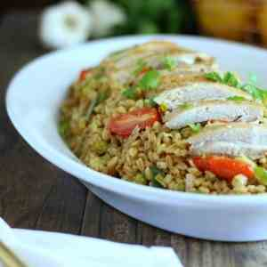 Roasted Chicken With Farro