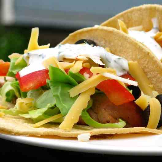 Beery Grilled Chicken Tacos.