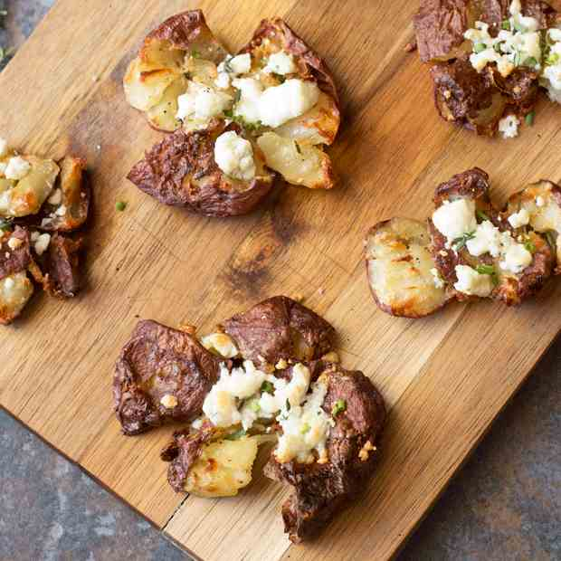 Smashed Potatoes with Fresh Herbs