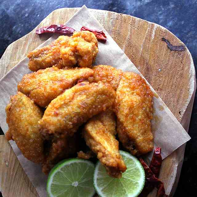 Double Fried Spicy Chicken Wings