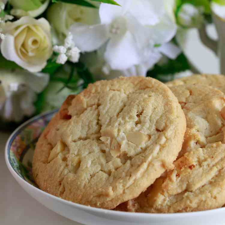 Best ever soft white chocolate chip cookie