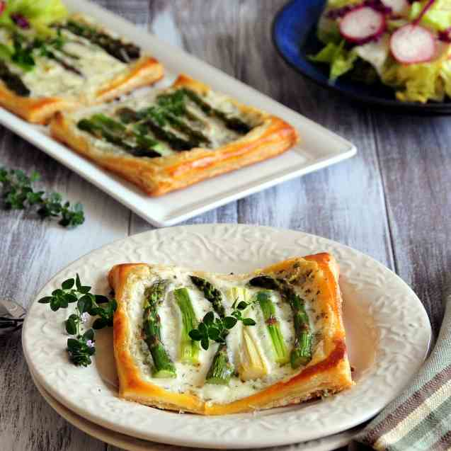 Mascarpone Asparagus Tarts-with pictorial