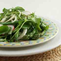 Spring Salad and Lemon Truffle Vinaigrette