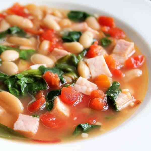 Easy White Beans and Baby Greens Stew