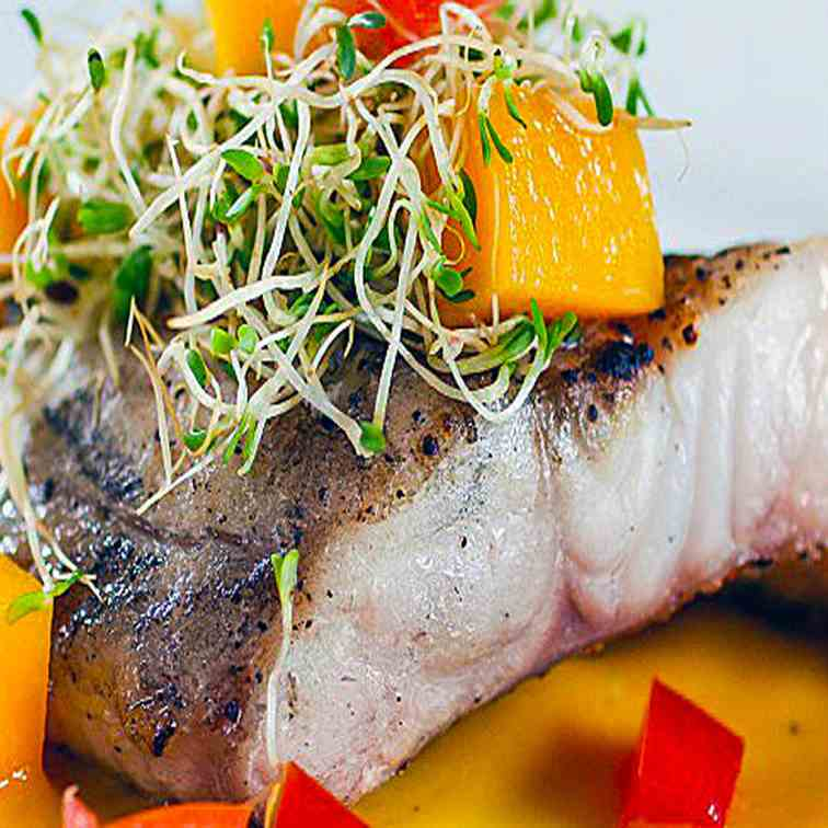 Grilled Fish with Mango Coulis