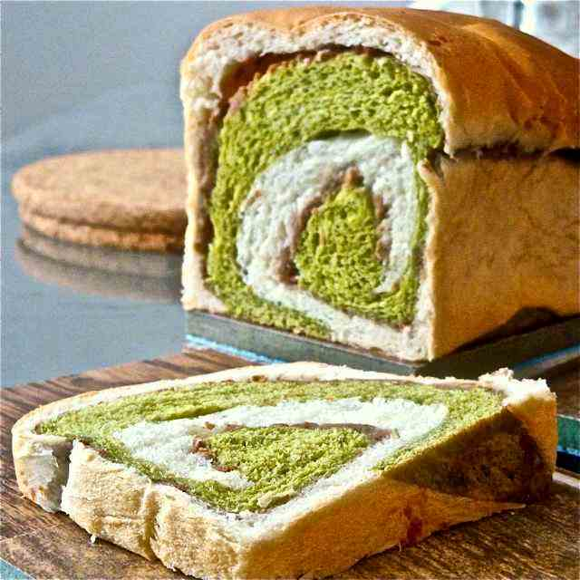 Matcha & Refried Bean Marble Bread