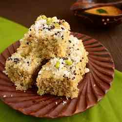 Moong Sprouts Dhokla
