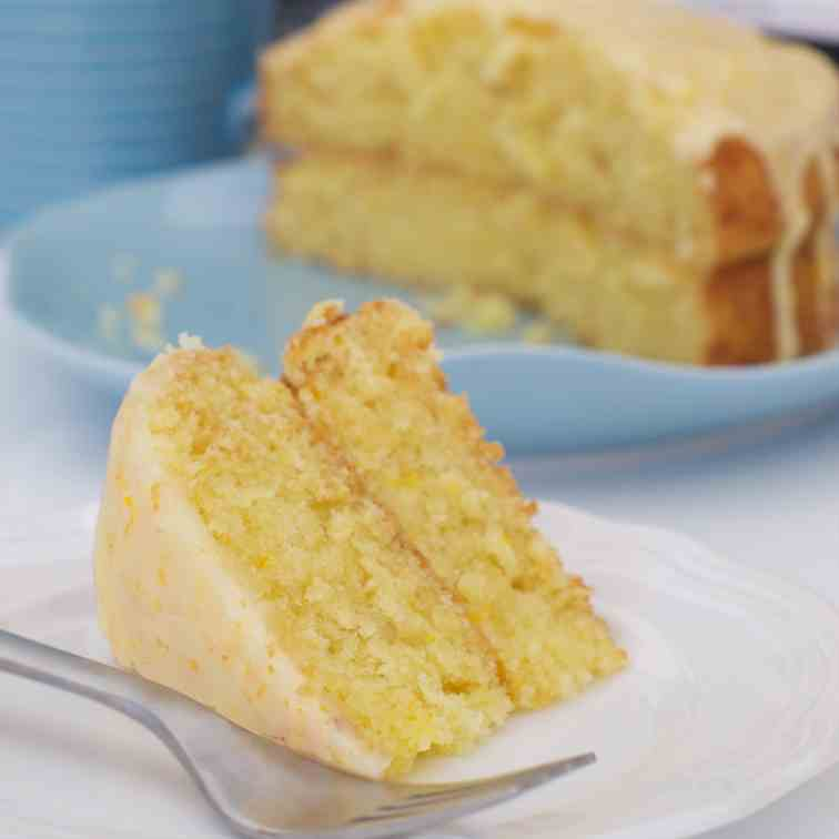 Triple orange coconut cake