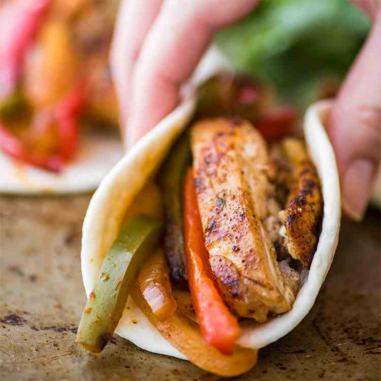 Quick and Easy Chicken Fajitas