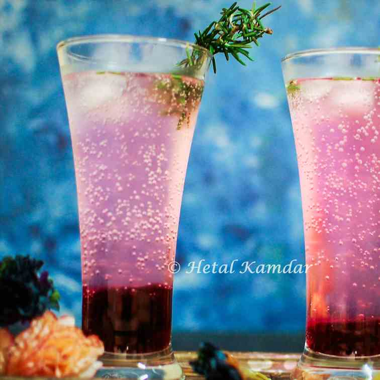 Blueberry Cooler with Rosemary