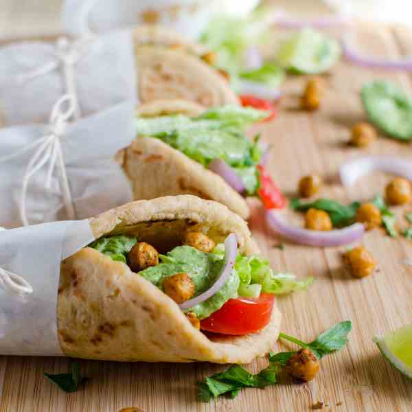 Vegan Wraps Using Naan Bread