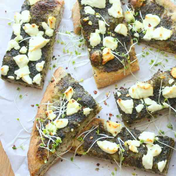 Pesto Goat Cheese Flatbread