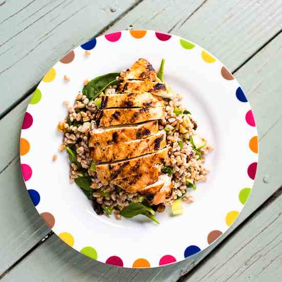 Grilled Chicken and Farro Salad