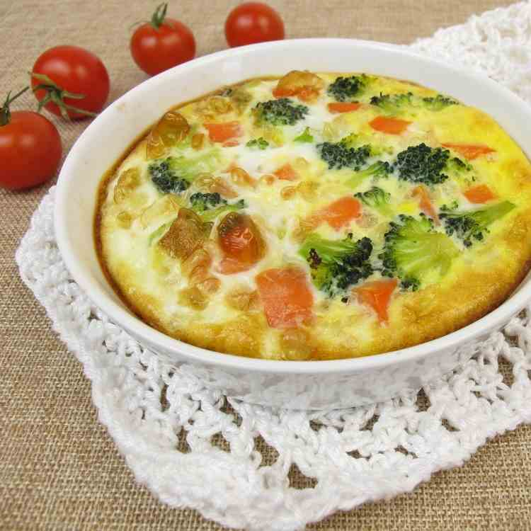 Flourless Air Fryer Broccoli Cheese Quiche