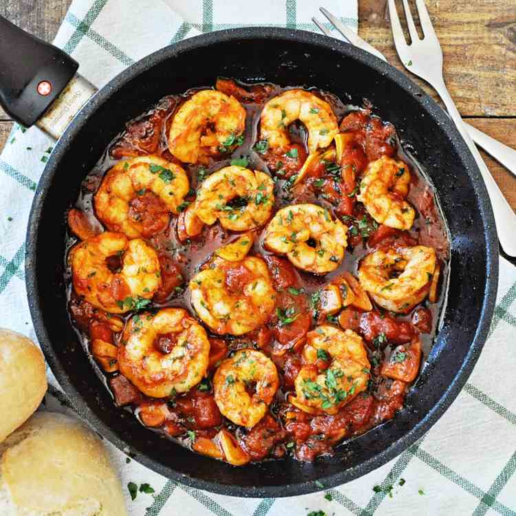 Spicy Garlic Paprika Shrimp
