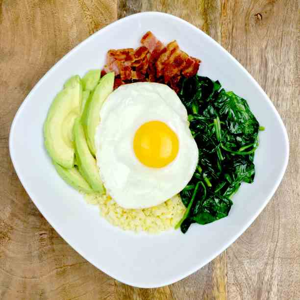 Sunshine Cauliflower Rice Breakfast Bowl
