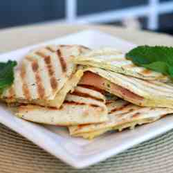 Gruyere and Prosciutto Tortillas