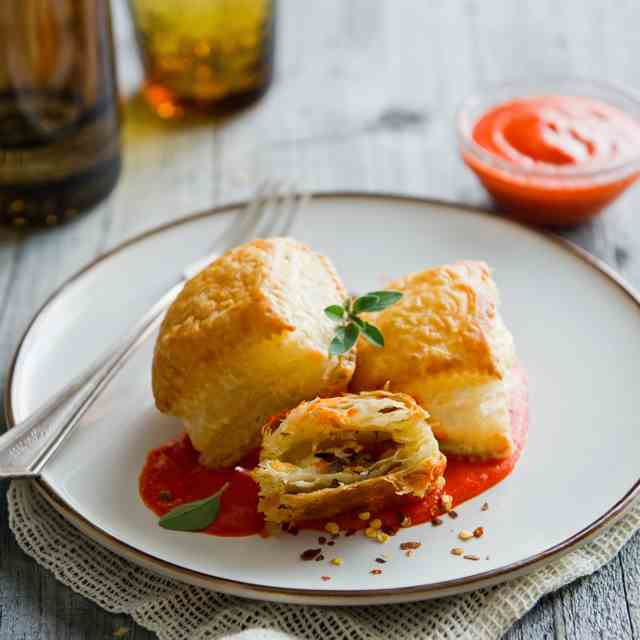 Pancetta, Caramelized Onion Puff Pastry