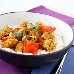 Chicken Vindaloo with Vegetables