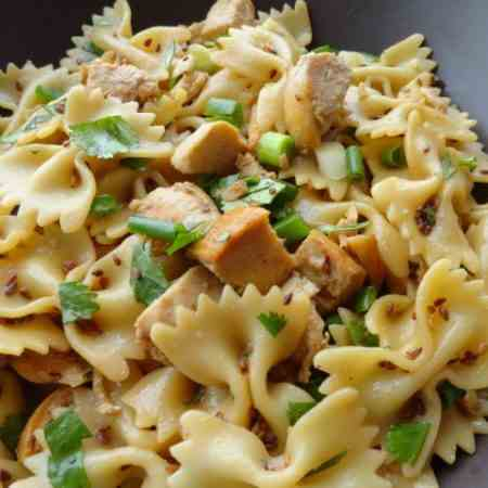 Sesame Pasta Chicken Salad Recipe