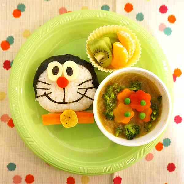 Doraemon rice ball dinner plate