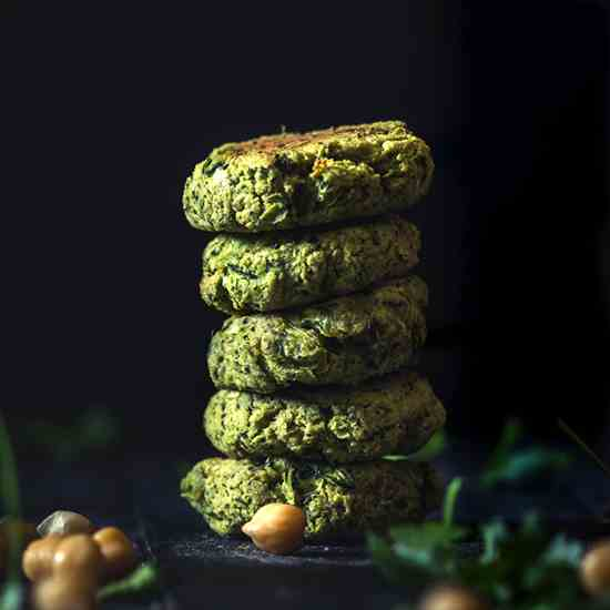 Baked Chickpea and Zucchini Falafel