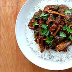 Chinese 5 Spice Beef stir fry with Soy and