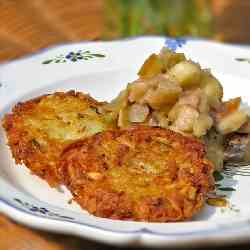 Potato Pancakes w/Chunky Apple Sauce