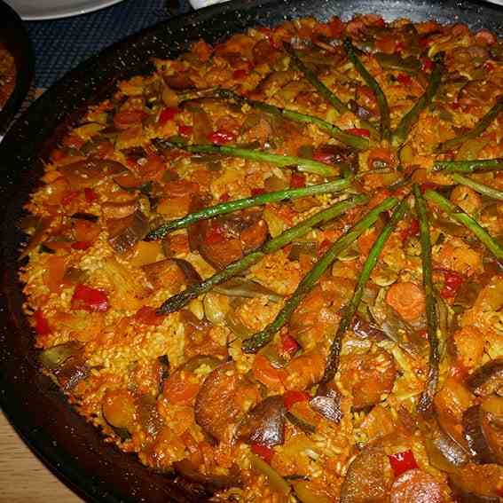 Vegetables Paella Recipe