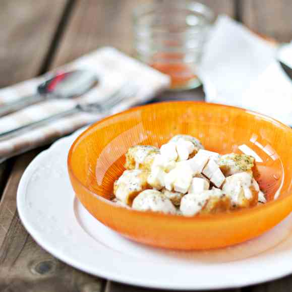 Pumpkin Gnocchi & Cheese dressing