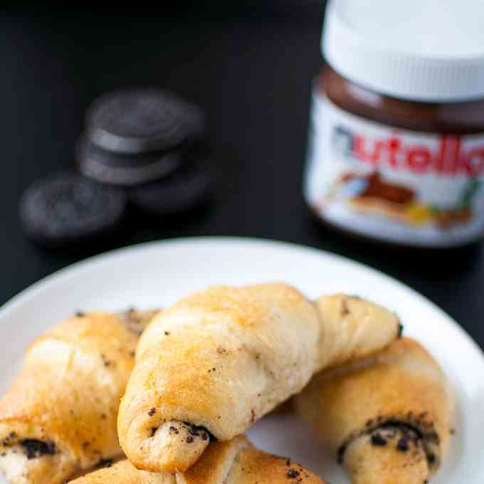 Oreo and Nutella Stuffed Crescents