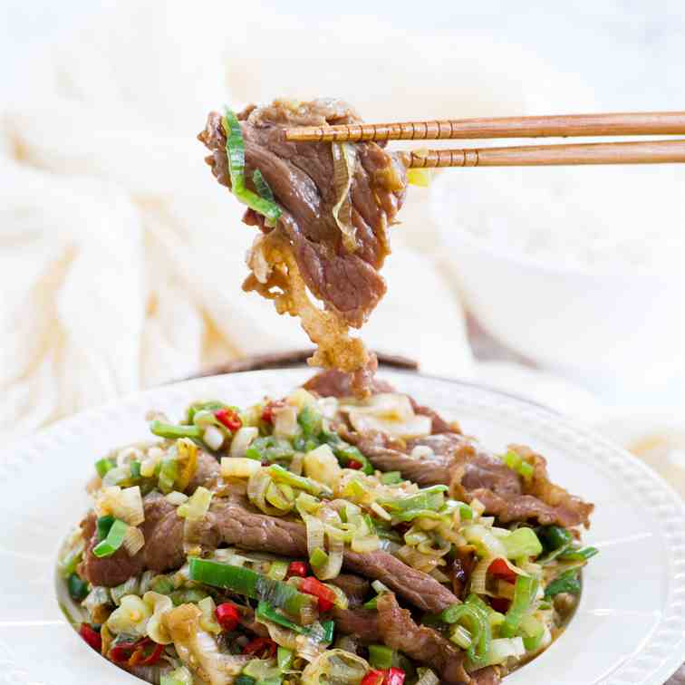 Beef with Japanese Bunching Onion