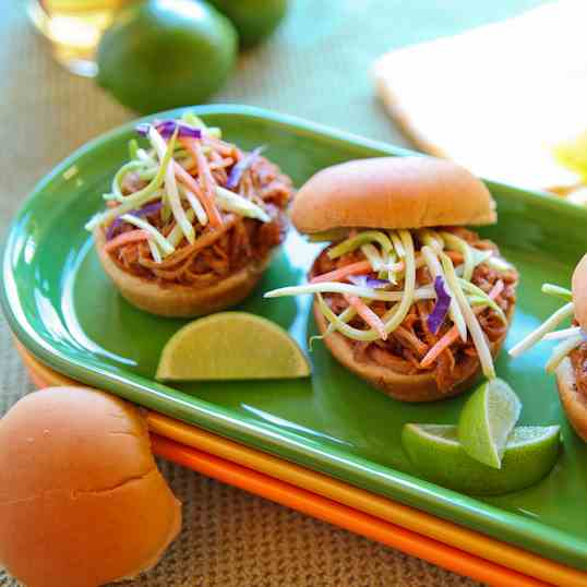 Tequila Lime Bbq Pork Sliders