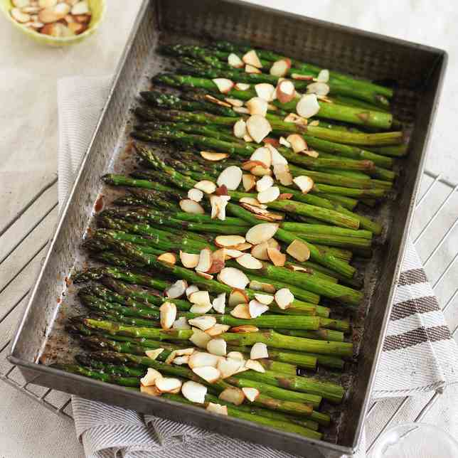 Cherry Balsamic Roasted Asparagus