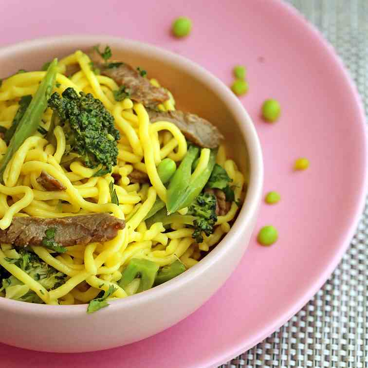 Beef - Broccoli Garlic Noodles