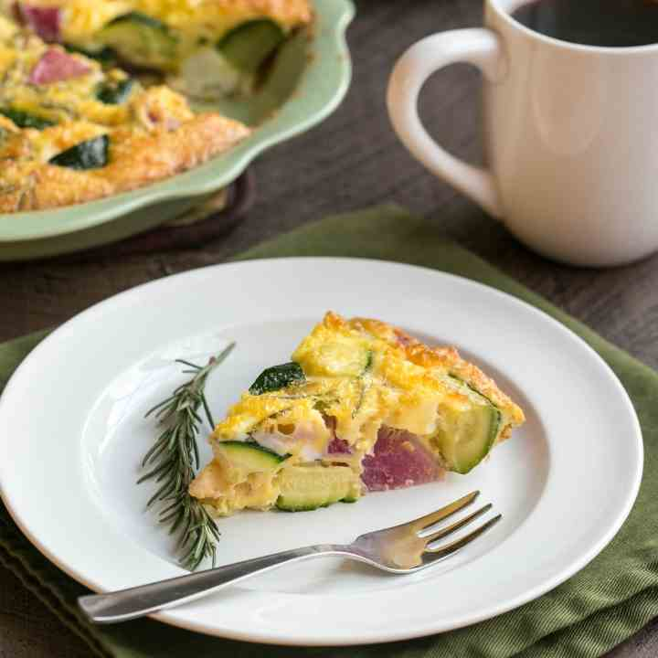 Crustless Zucchini Radish Quiche