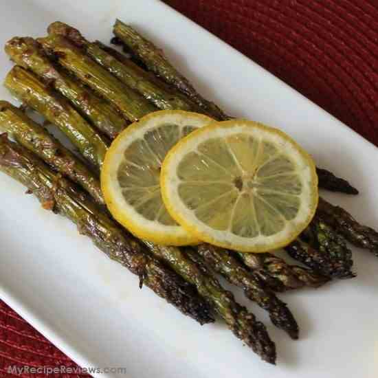 Balsamic Roasted Asparagus with Parmesan