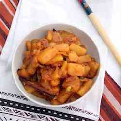 Sweet and Spicy Pineapple Side Dish